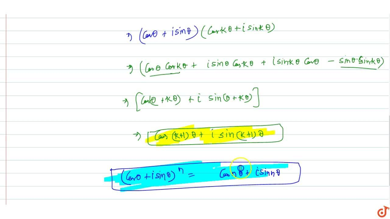 Solution for Prove, by induction, that  (cos theta + isintheta