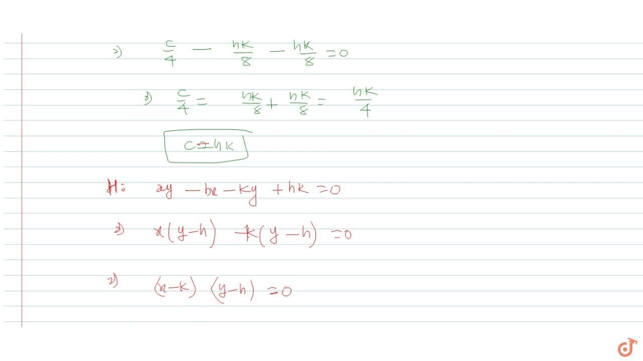 Solution for The asymptotes of the hyperbola x y=h x+k y are