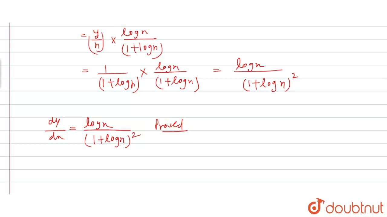 Solution for If x^(y)=e^(x-y) then prove that (dy),(dx)=(log