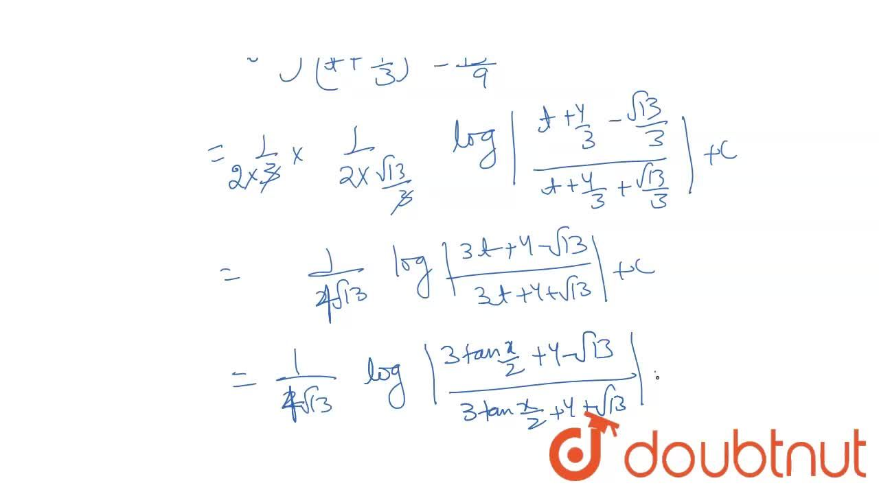 Solution for int(1),(3+4 sin x)dx