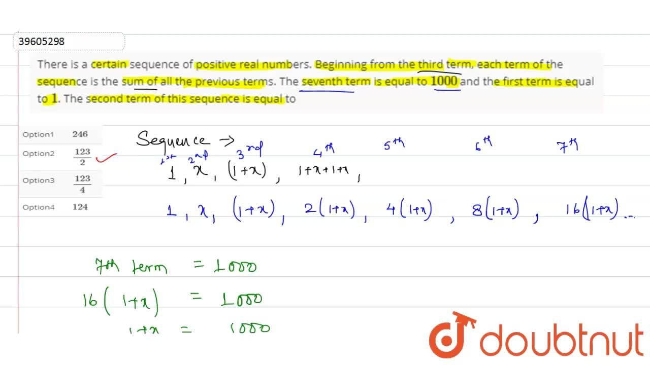 Solution for There is a certain sequence of positive real numbe