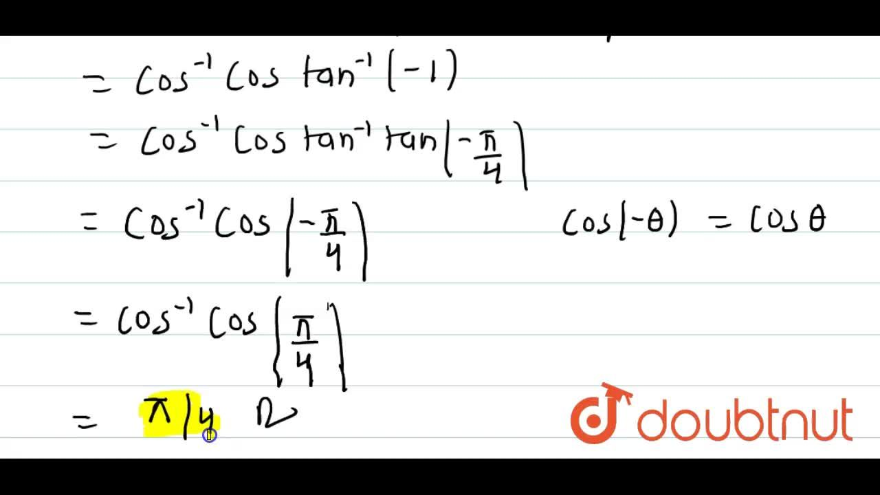Solution for cos^(-1) (cos (2 cot^(-1) (sqrt2 -1))) is equal