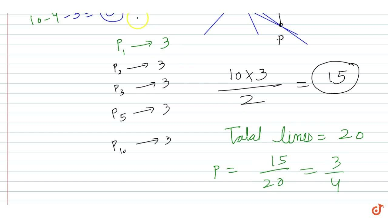 Solution for There are 5 lines no two of which are parallel and