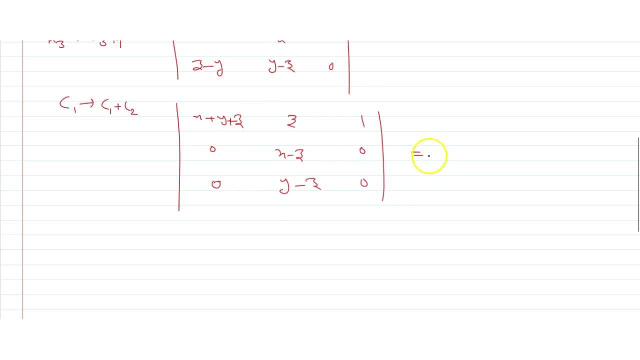 Solution for  Without expanding prove that |[x+y ,z,1],[y+z,x,