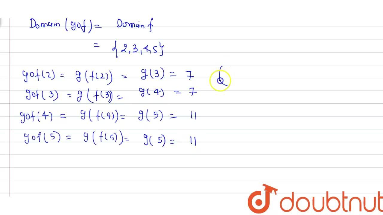 Solution for Let f:{2,3,4,5} to {3,4,5,9}and g:{3,4,5,9}  to {