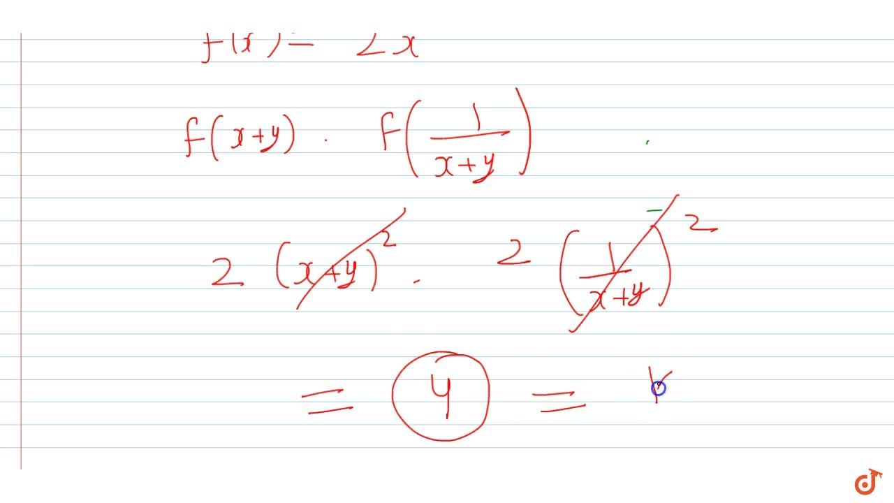A function f (x) is defined for all x in R and satisfies, f(x + y) = f (x) + 2y^2 + kxy AA x, y in R, where  k is a given constant. If  f(1) = 2 and f(2) = 8, find f(x) and show that  f (x+y).f(1,(x+y))=k,x+y != 0.