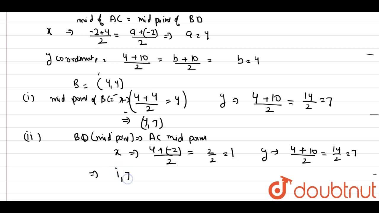 Solution for A(-2,4),C(4,10) and D(-2,10) are the vertices