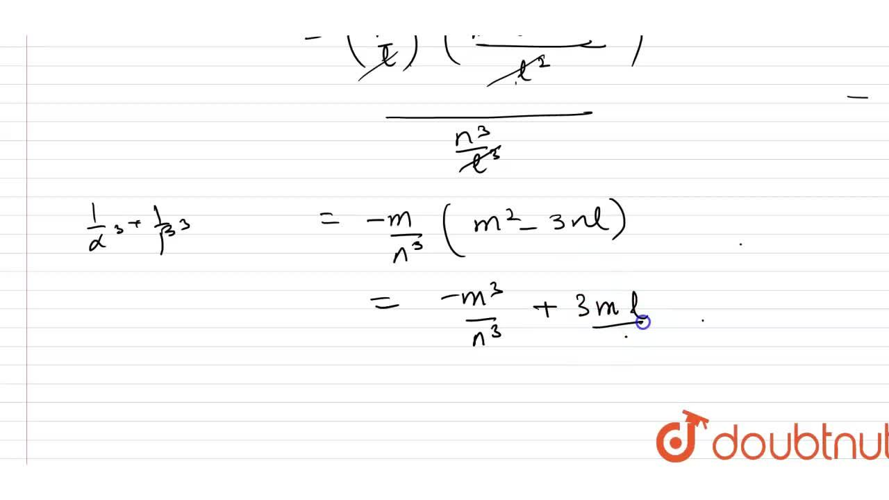 Solution for If alpha, beta are the roots of the quadratic eq