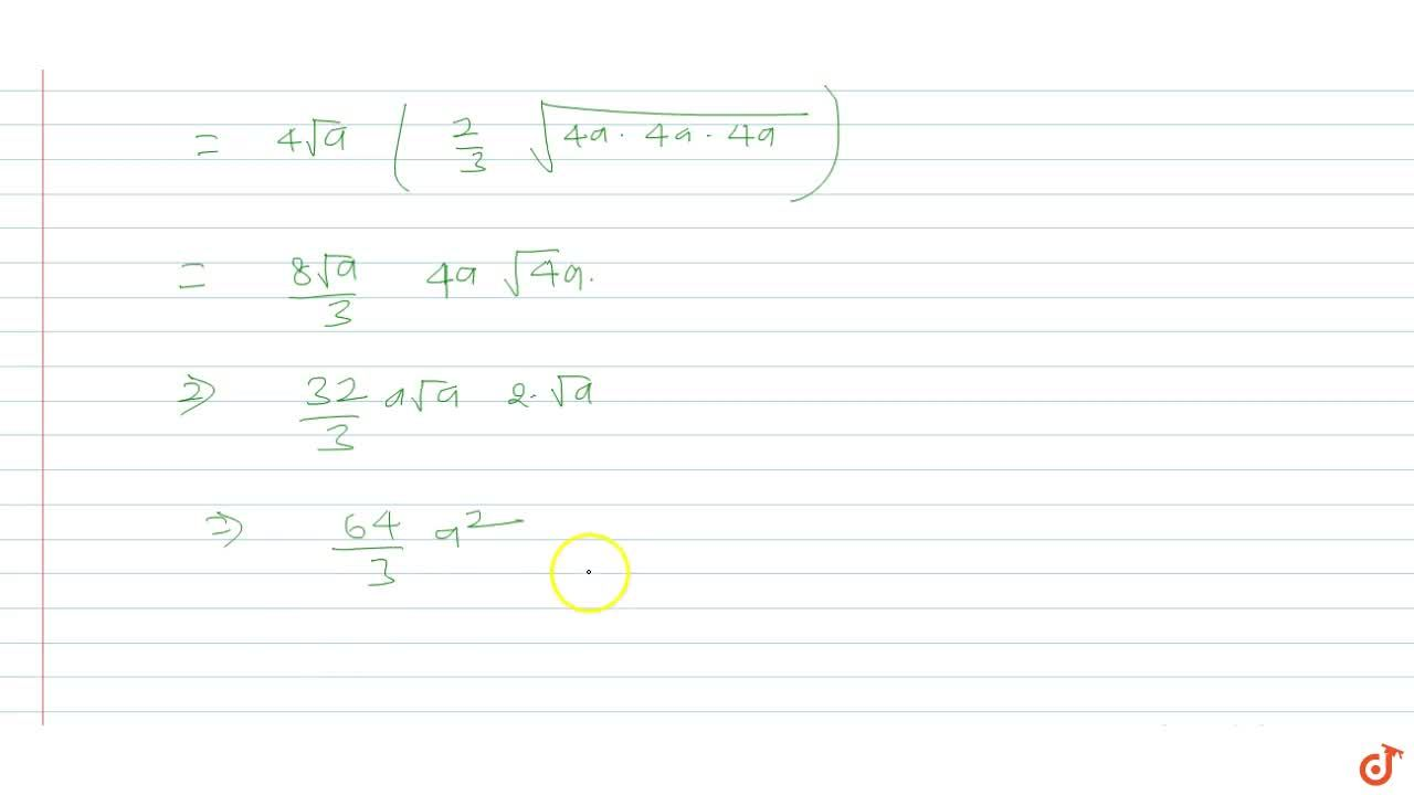 Using integration find the area of the region bounded by y^2 = 4ax and x = 4a