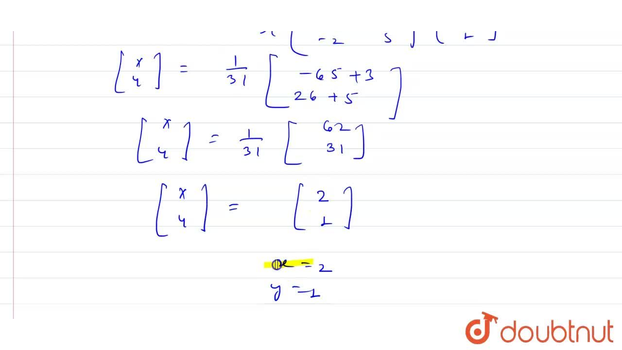 Solution for Solve the following system of linear equations usi
