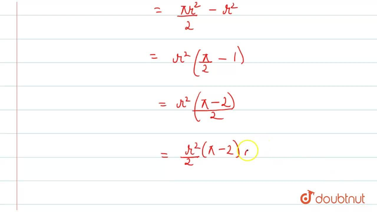 Solution for In the following figure, a circle a inscribed in s