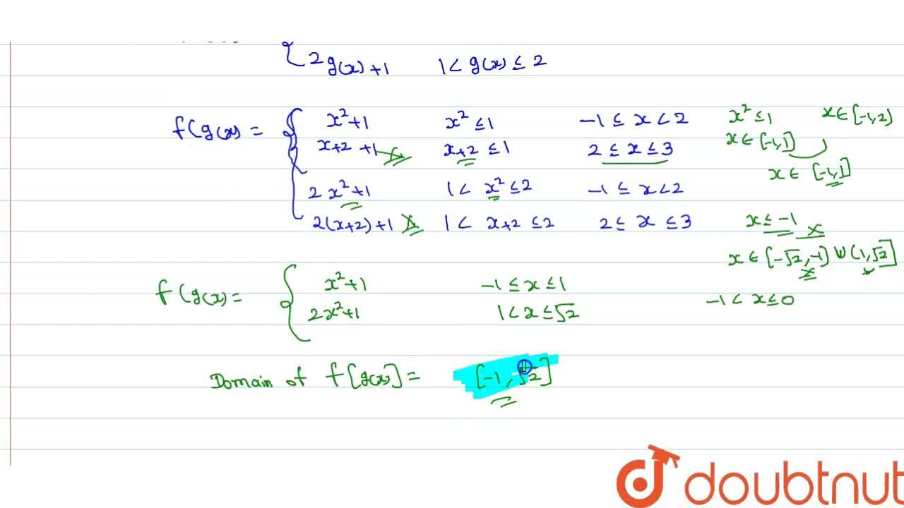 """Solution for Consider the functions <br> f(x)={(x+1"""","""",x le 1)"""