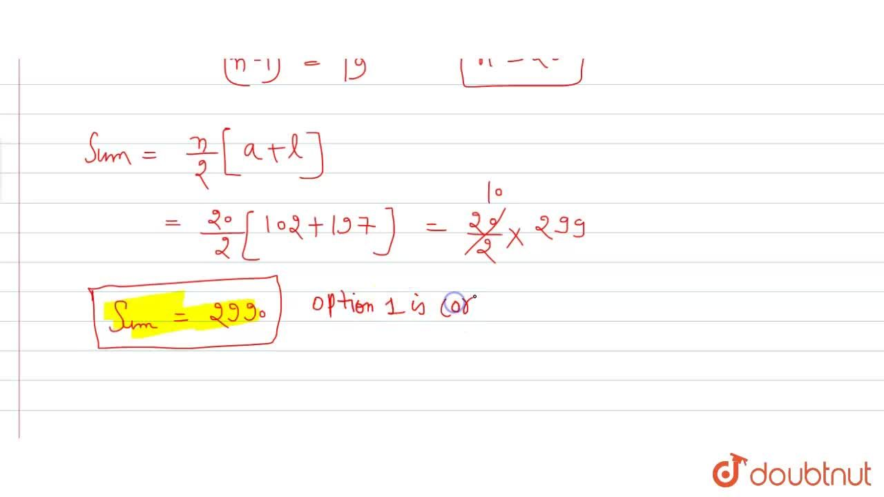 Solution for Find the sum of natural numbers and lying between