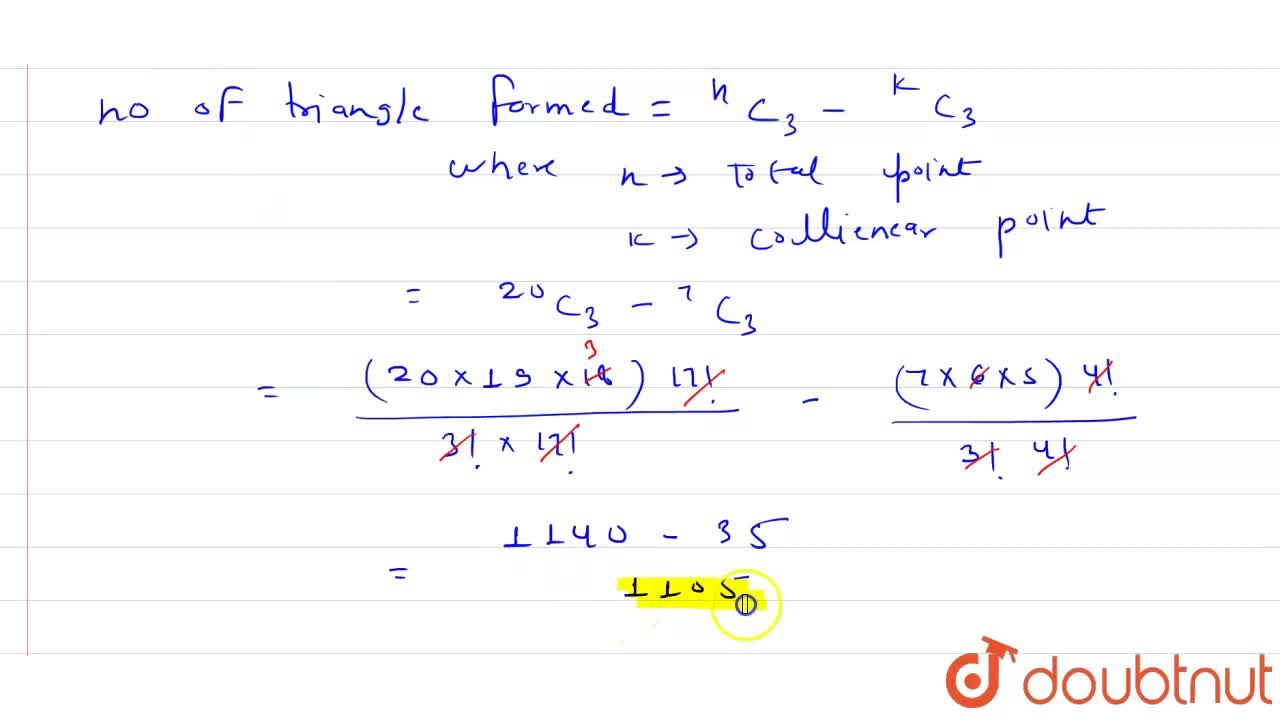 Solution for Twenty points are marked on a plane so that non th