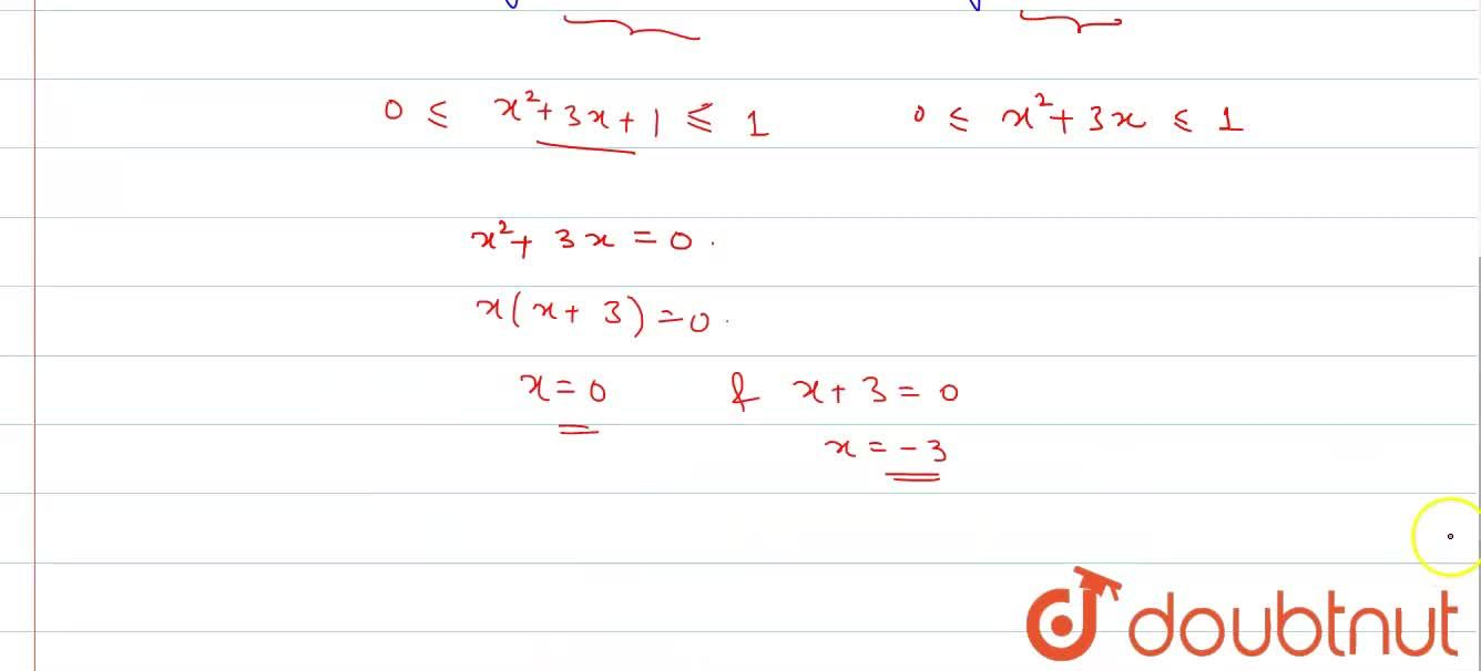 Solution for Find the real values of x for which the function