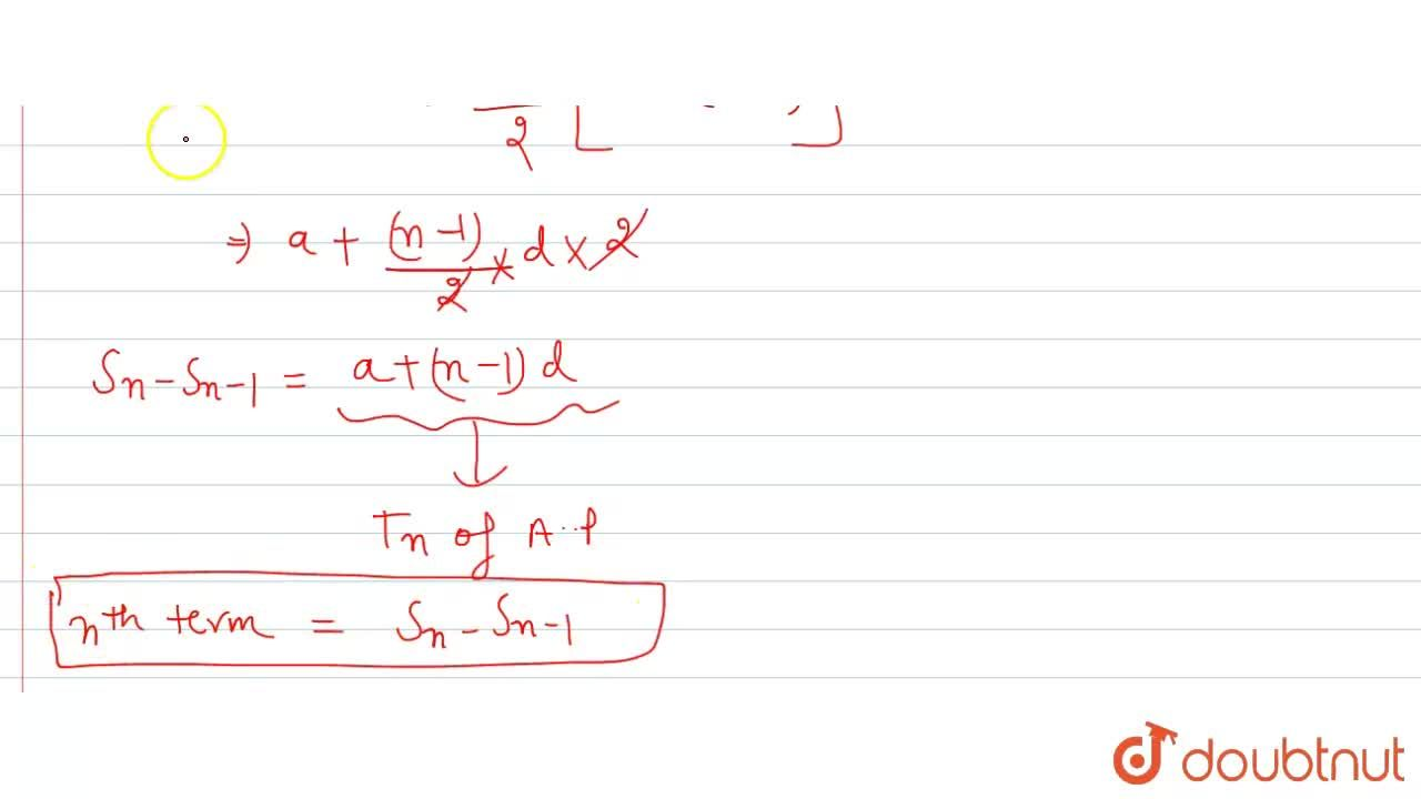 Solution for In a sequence, if S_n is the sum of n terms and