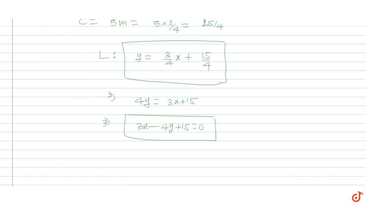 Solution for Find the equation of a straight line which makes a