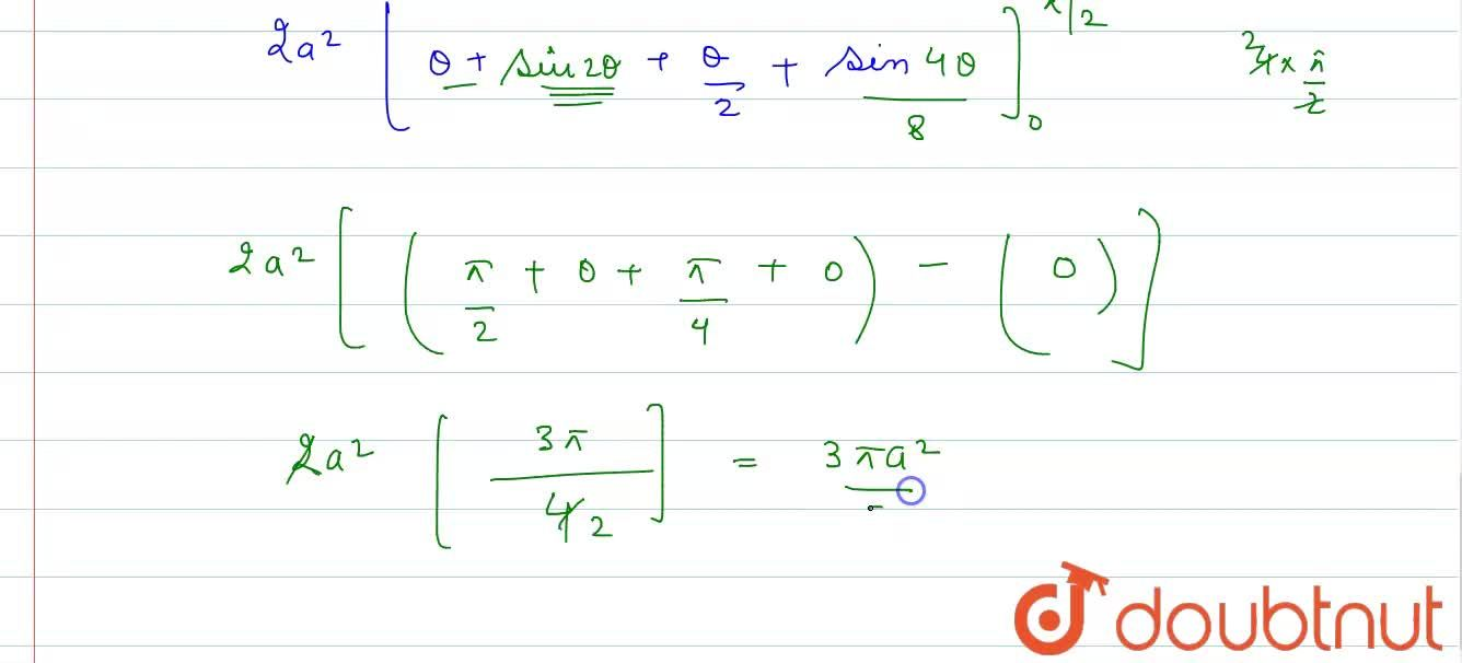 Solution for The area enclosed between the curve y^(2)(2a-x)=x