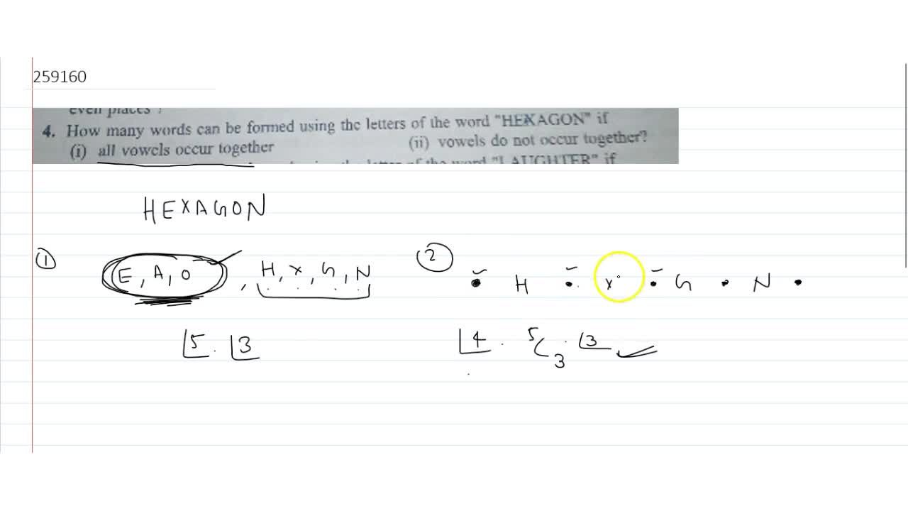 Solution for How many words can be formed using the letters of