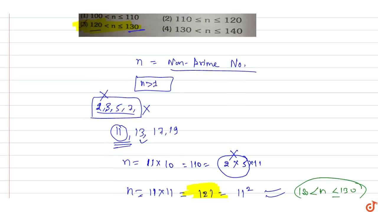 Solution for Let n be the smallest nonprime number greater than
