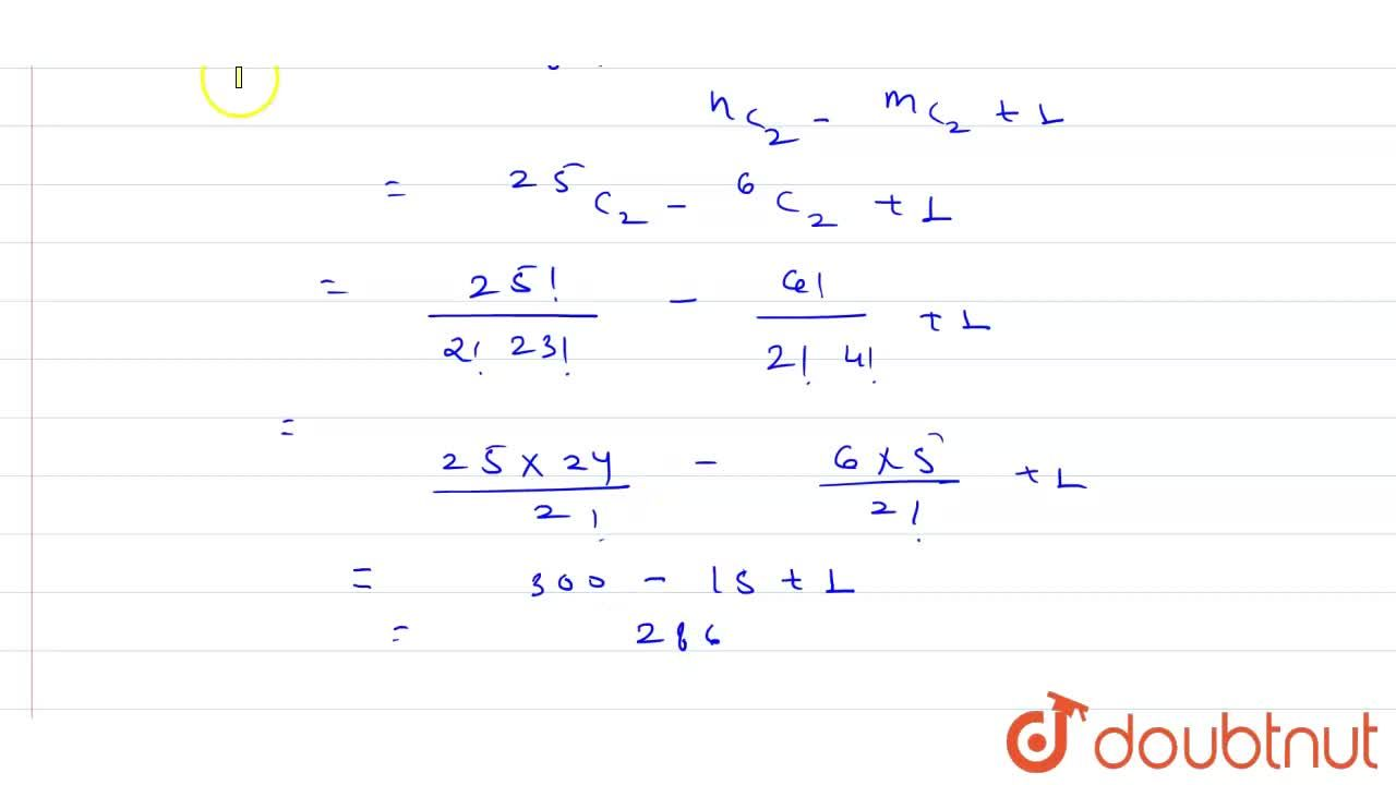 Solution for There are 25 points in a plane. Six of these are c