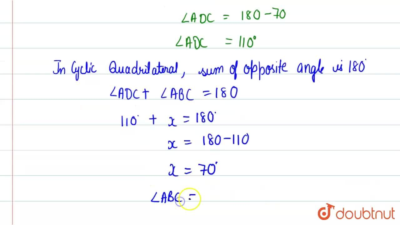 Solution for In the given figure ( no to scale), ABCD is a cycl
