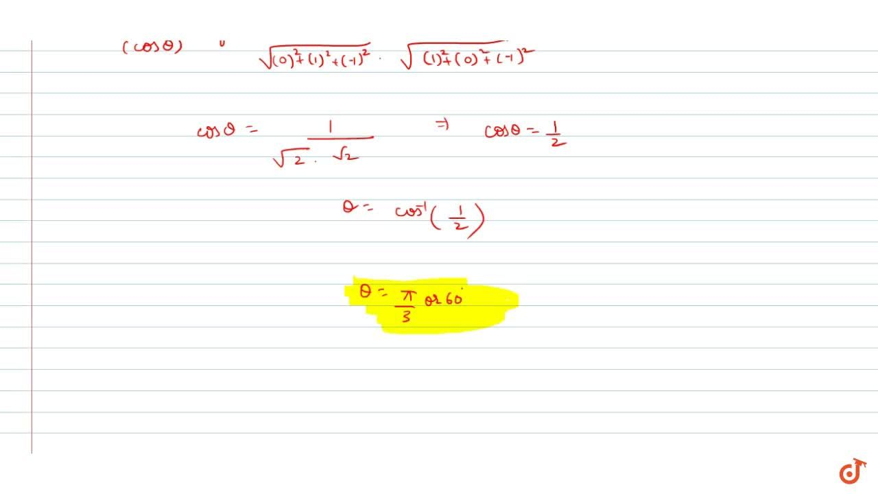 Solution for  Find the acute angle between the two straight lin