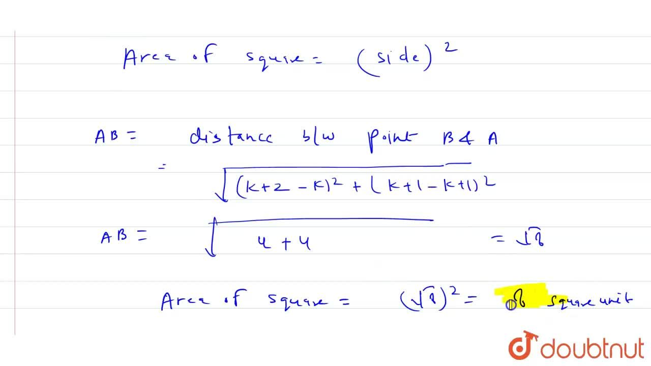 Solution for If the points ( k, k -1) , (k + 2 , k + 1) and (k