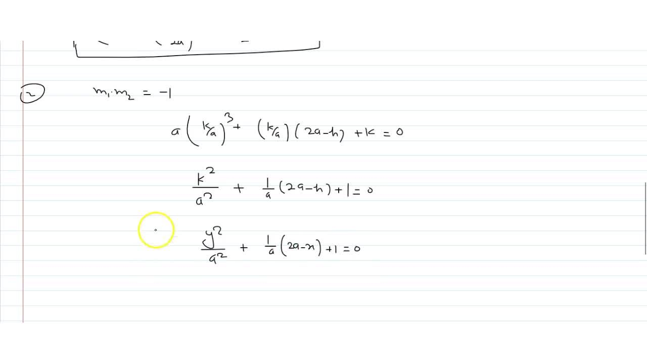 Solution for Find the locus of the point N from which 3 norma