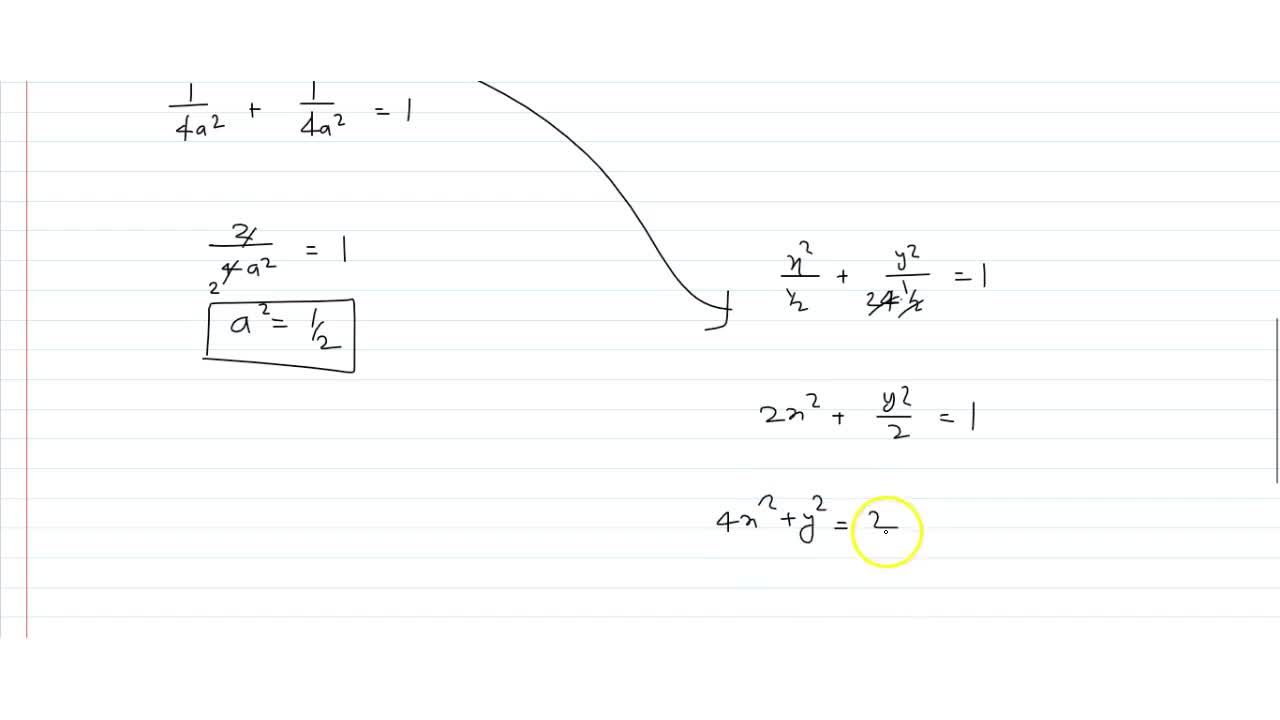 Consider the ellipse that satisfies the following properties: major axis is vertical  , length of major axis is twice the length of the minor axis , graph passes through the vertex of the parabola with equation (y-1)^2 = 4x-2. Find an equation of the ellipse. Find the center-to-focus distance of the ellipse.