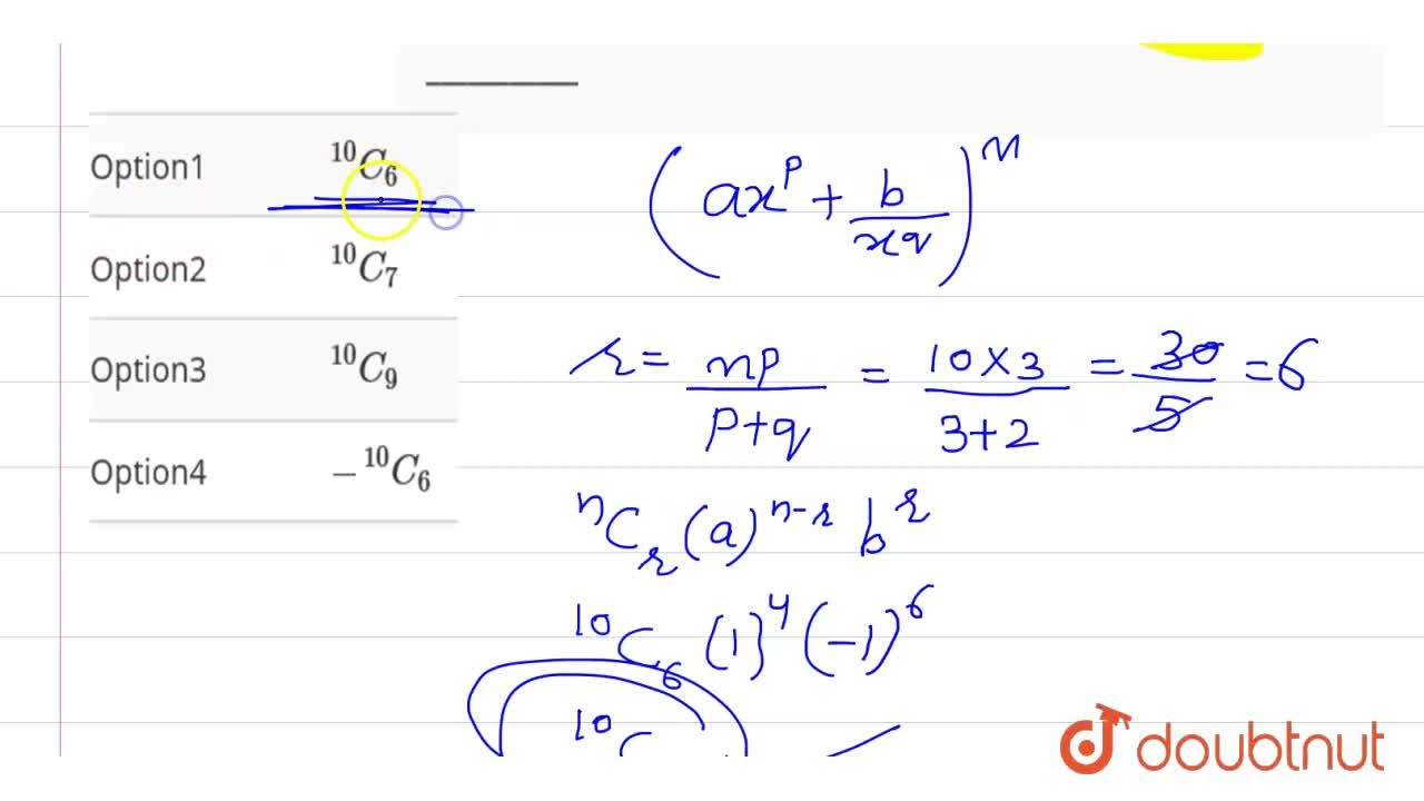 The term independent of x in the exapansion of (x^(3)-(1),(x^(2)))^(10) is ___________