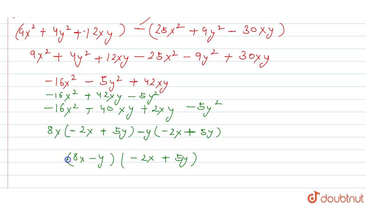 Solution for Factorise the following : <br> (3x + 2y)^(2) - (5