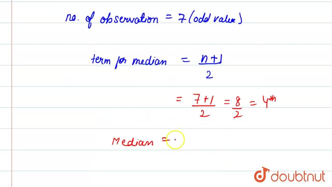 Solution for the median of the data 13, 12, 14, 13, 15, 16, 18,