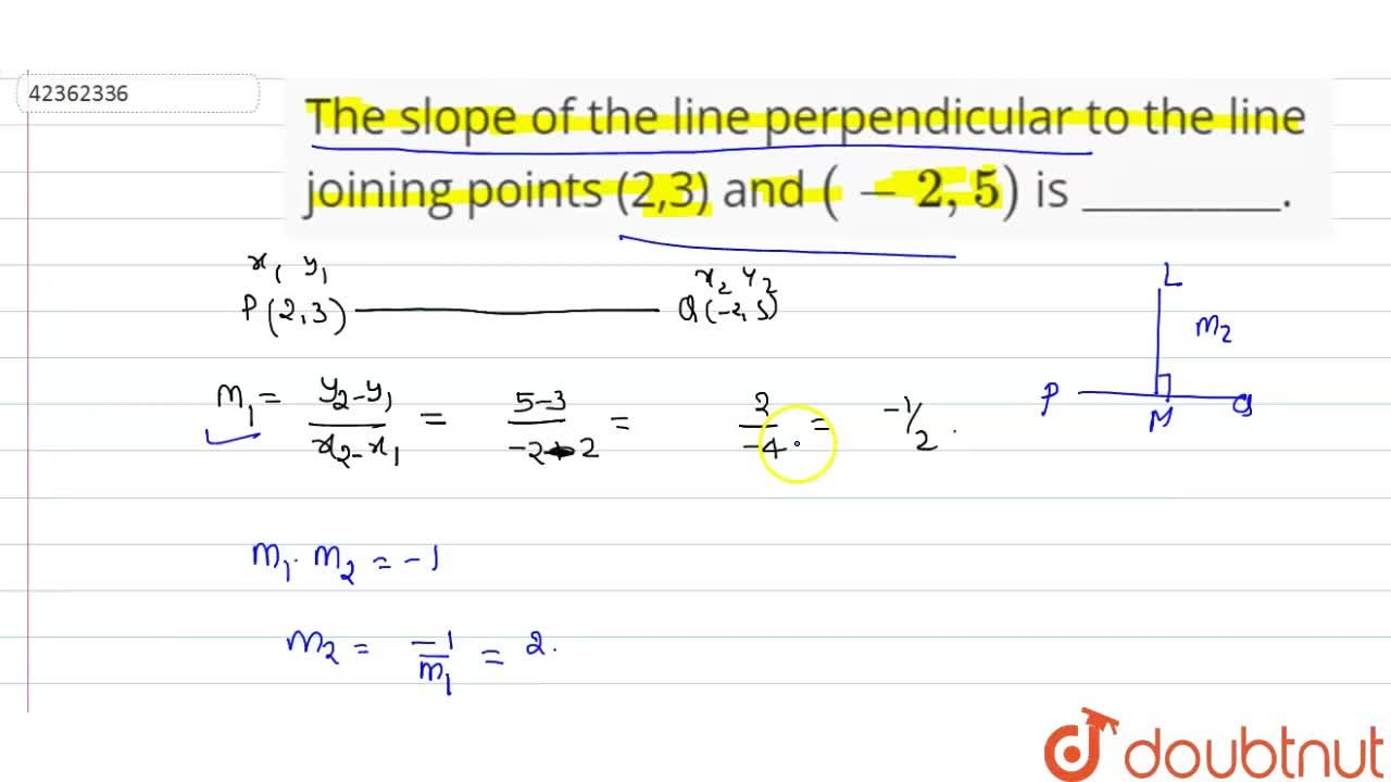 Solution for The slope of the line perpendicular to the line jo