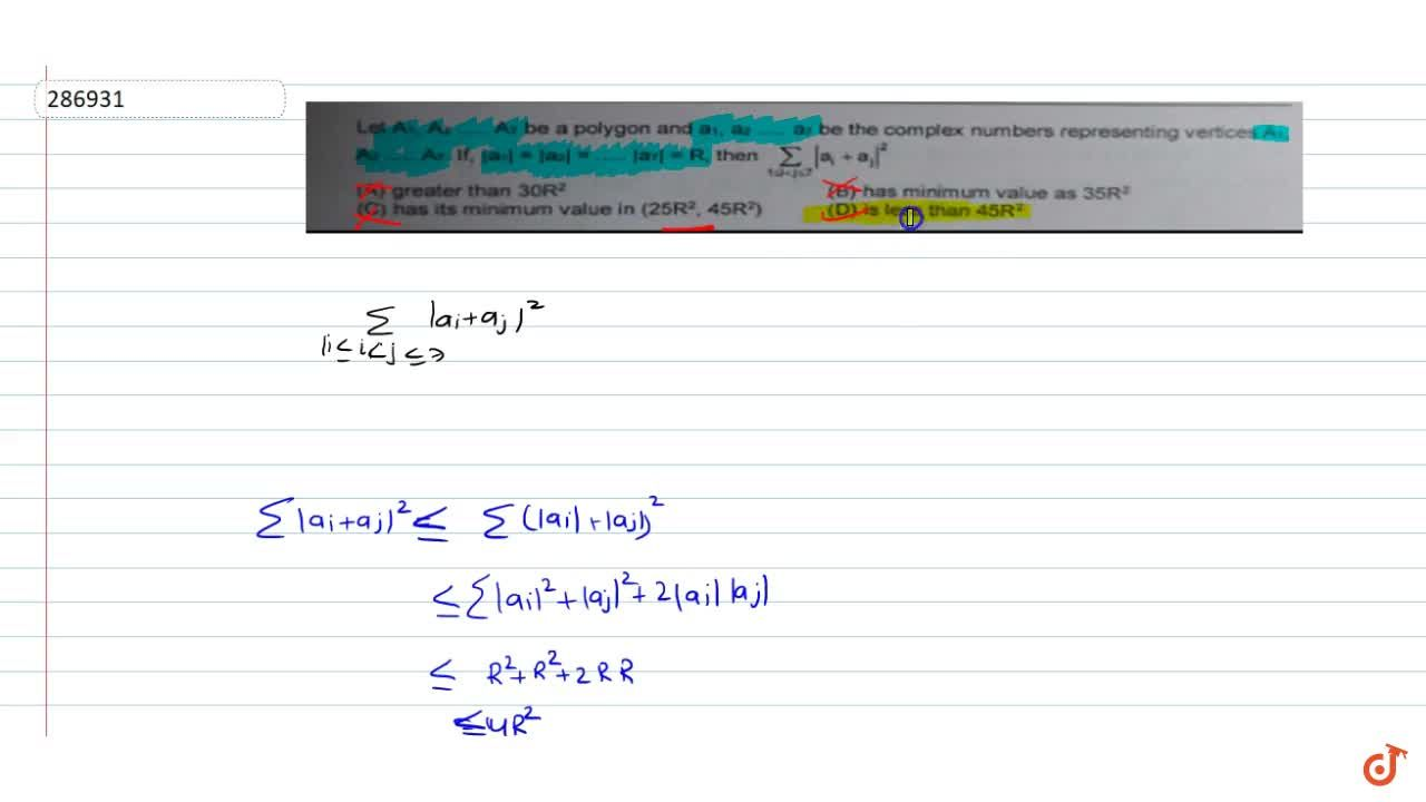 Solution for Let A_1, A_2........A_7  be a polygon and a_1..