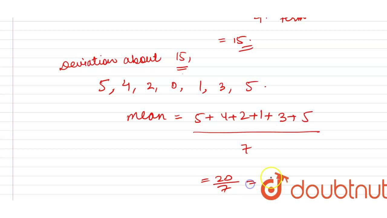 Solution for Calculate the mean deviation for the following dat