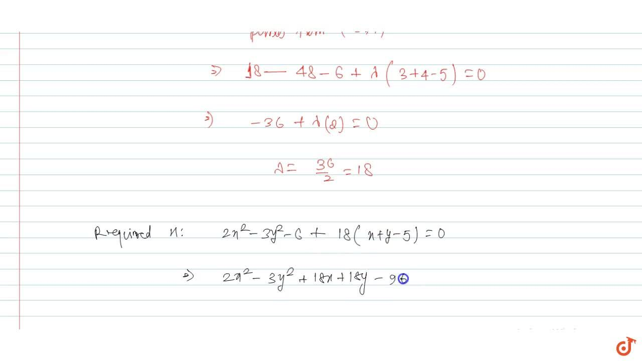 Solution for Find the equation of a hyperbola which passes thro