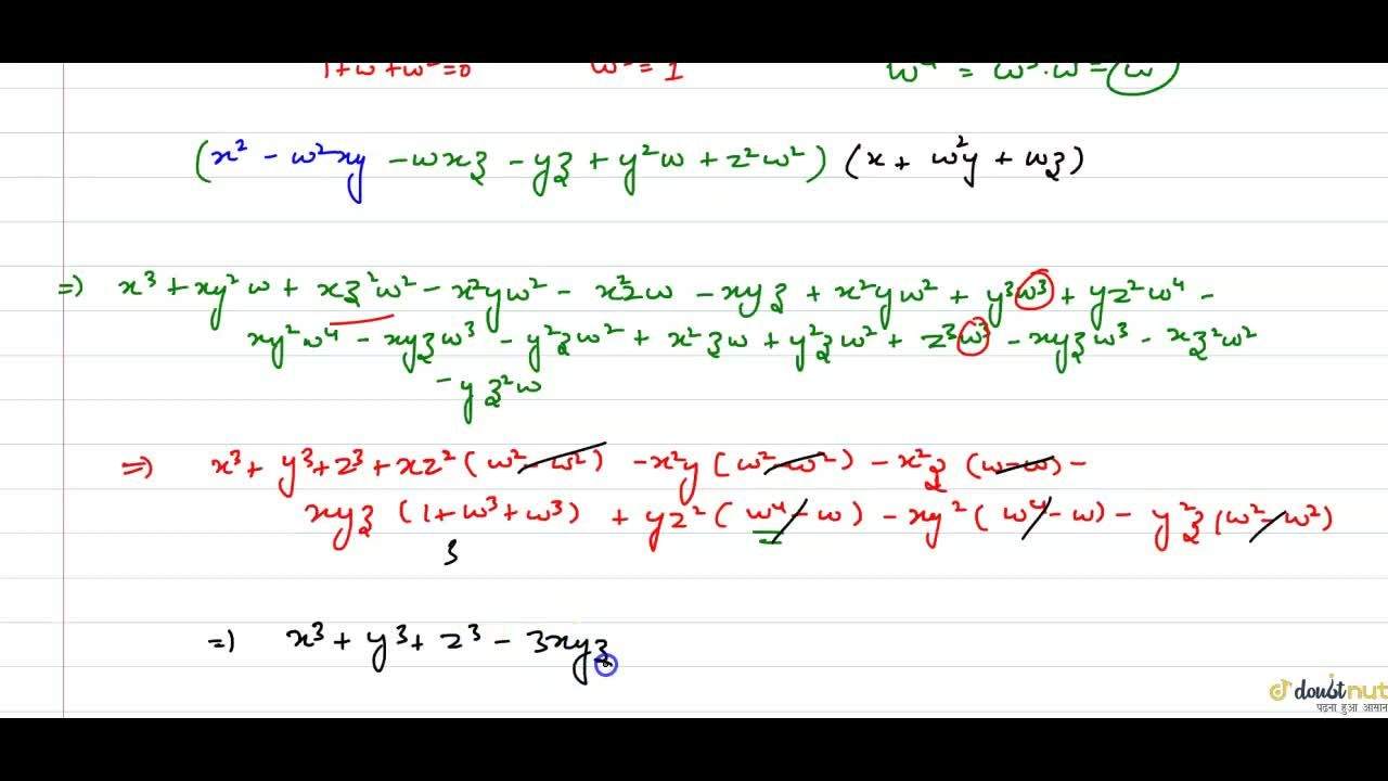Solution for Prove that (x+y+z)(x+omega y+omega^(2)z)(x+omega^