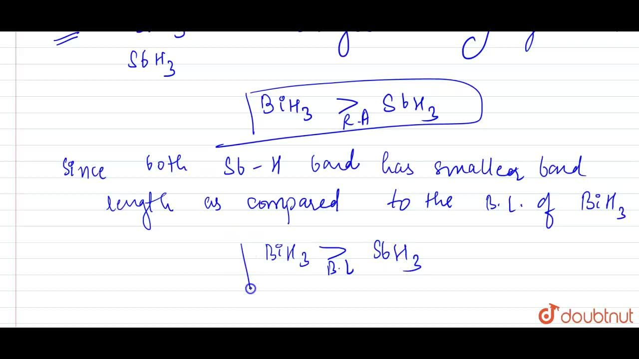 """Solution for Which is a stronger reducing agent , SbH_(3) """" or"""
