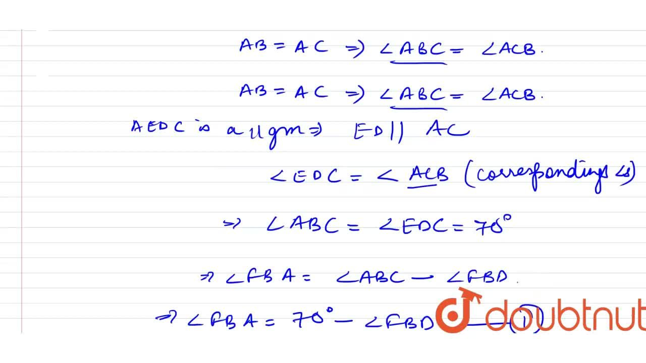 Solution for In the given figure (not to scale), ABC is an isos