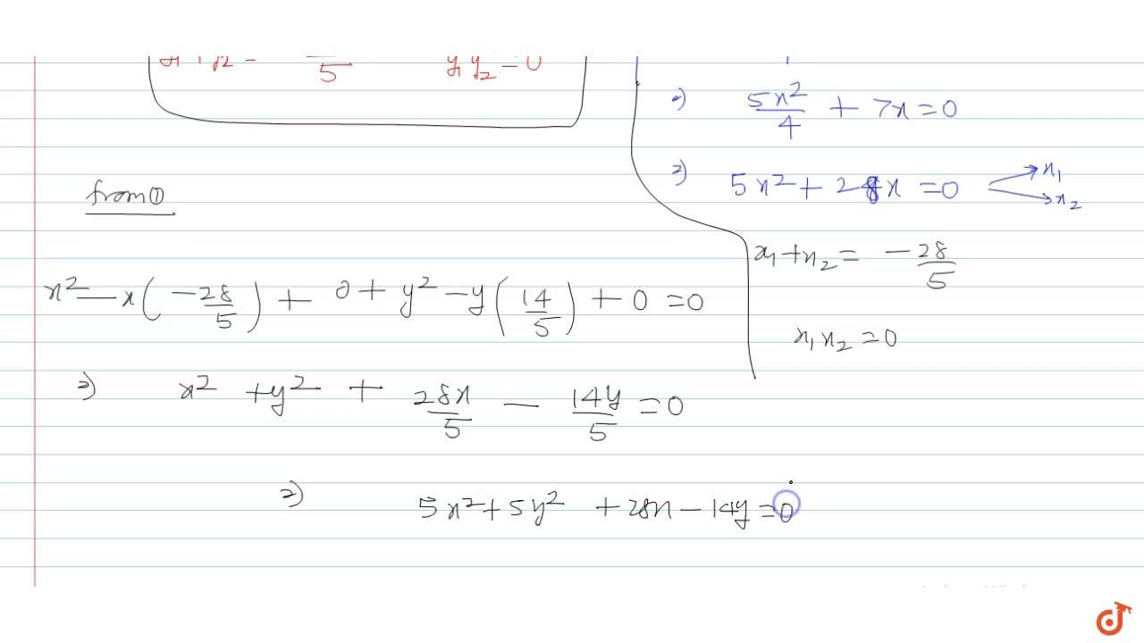 Solution for The equation of a chord of the circle x^2 +y^2 +