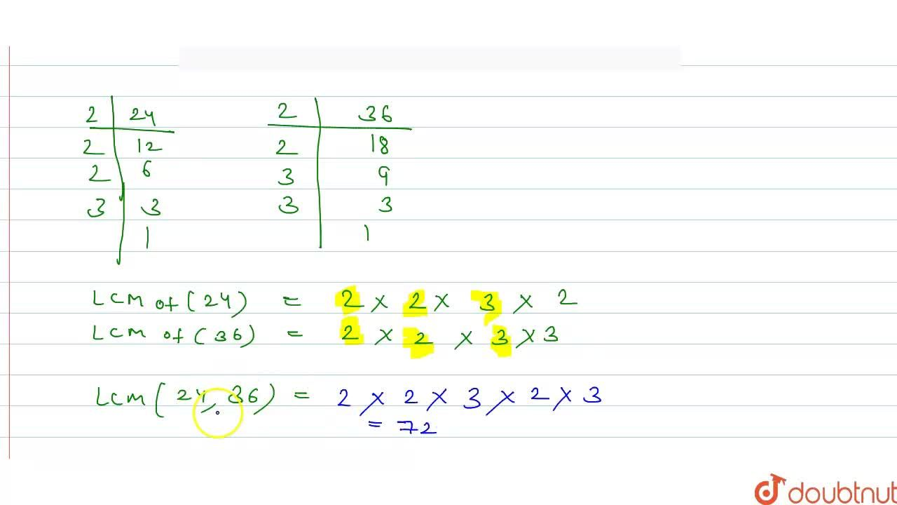 Solution for Find the LCM of 24b and 36.