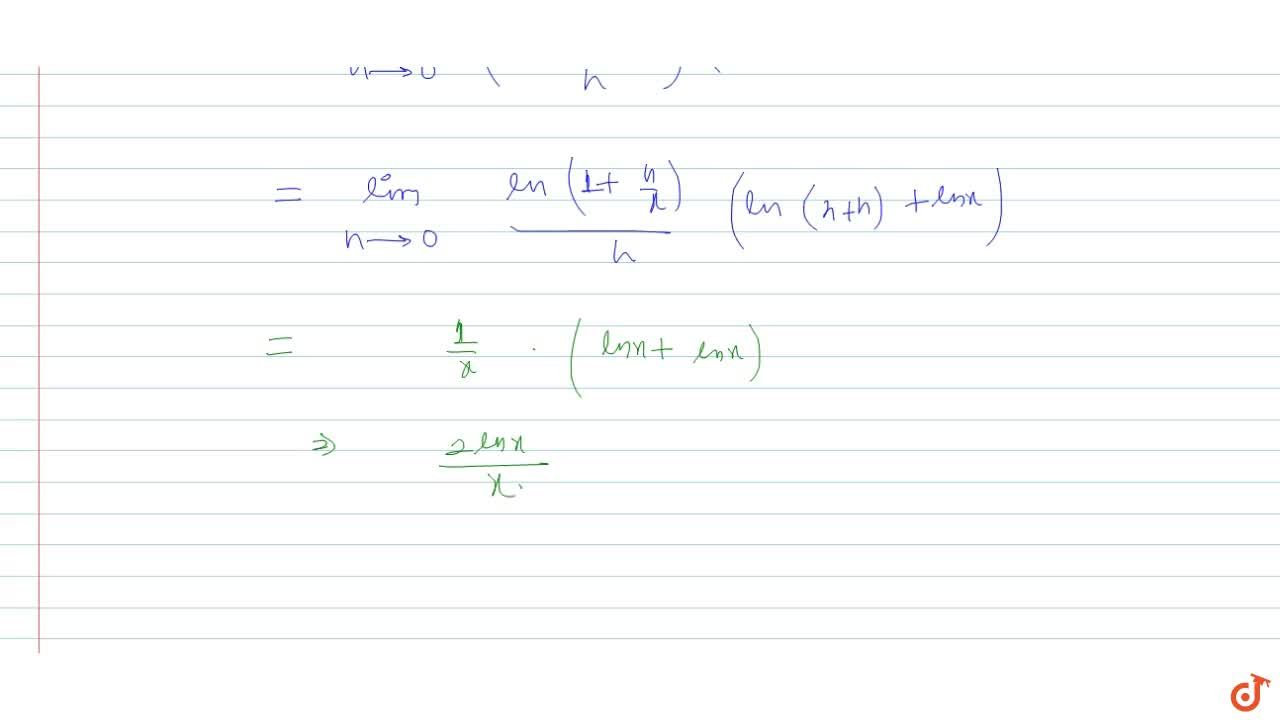 Find the derivative of y=ln^2x with respect to x using first principle.