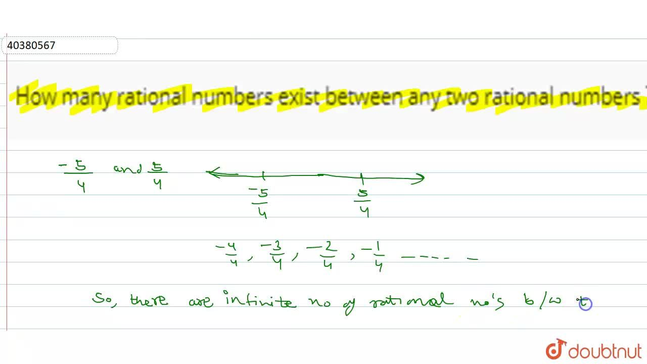 Solution for How many rational numbers exist between any two ra