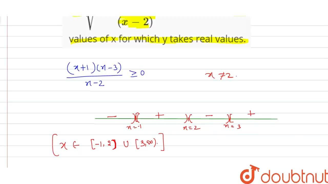 Solution for Let sqrt(((x+1)(x-3)),((x-2))). Find all the rea