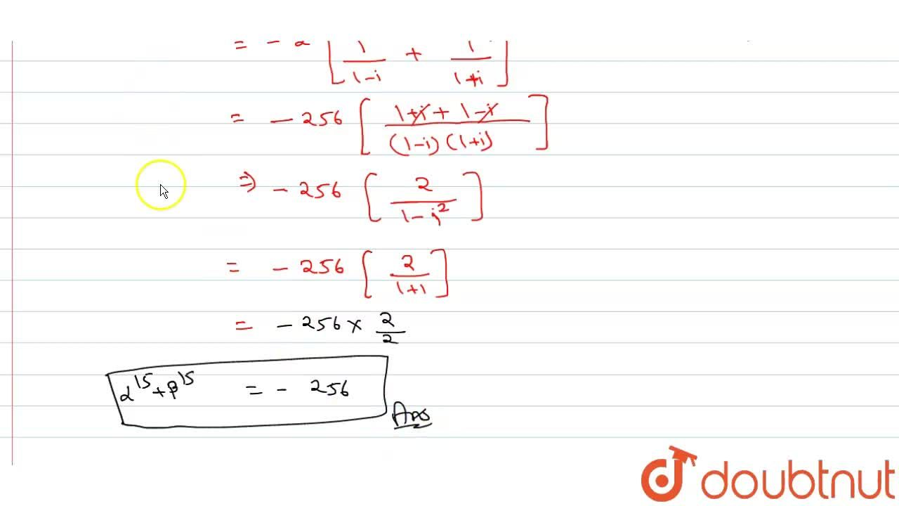 Solution for Let alpha and beta two roots of the equatins x^