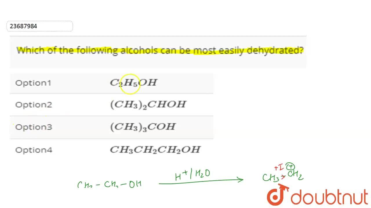 Solution for Which of the following alcohols can be most easily