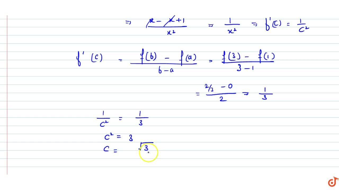 Solution for If   mean value theorem holds good for the functi