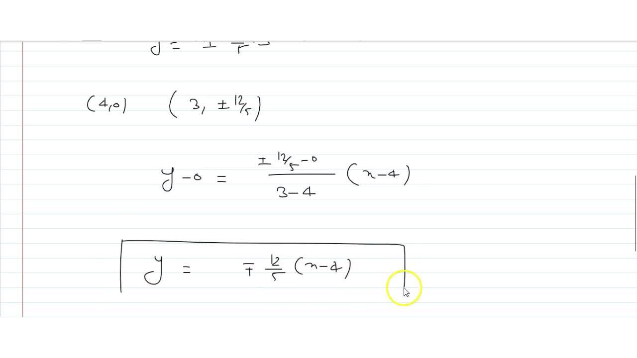 Solution for A ray emanating from the point (- 4, 0) is incid