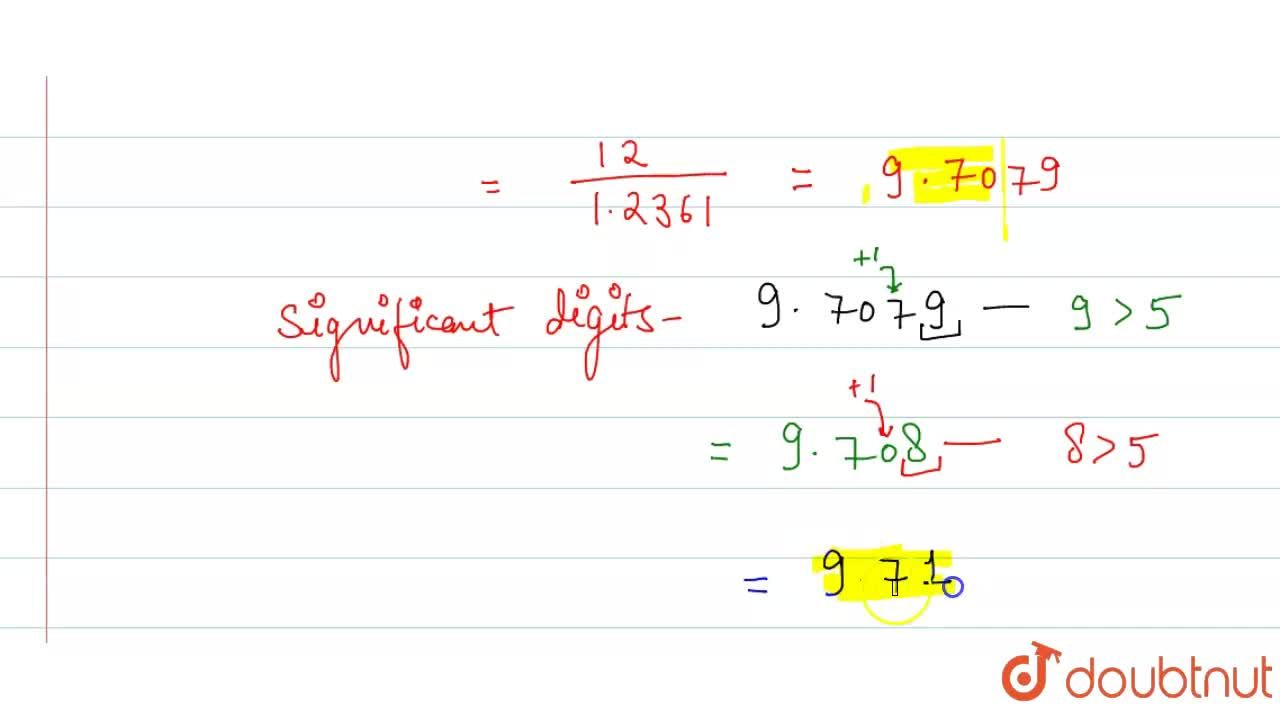 """The value of 12,(sqrt5 - 1) corrected to three significant digits is """"________"""".  (sqrt5 = 2.2361)"""